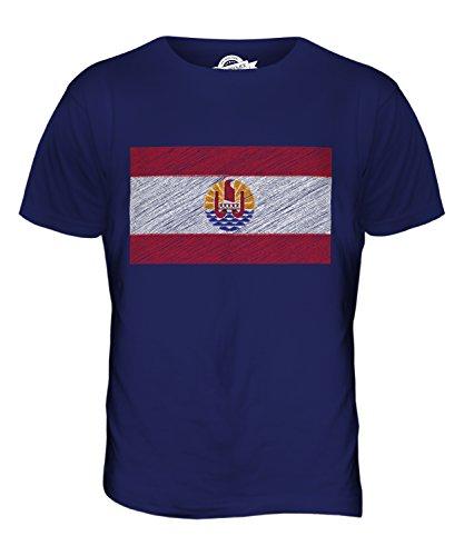 CandyMix Französisch-Polynesien Kritzelte Flagge Herren T Shirt Navy Blau