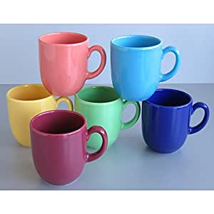 Creatable 14014 TOP  6 Mugs Porcelaine Multicolore 27 x 34 x 15 cm