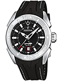 Festina Mens Quartz Watch, Analogue Classic Display and Rubber Strap F16505/9
