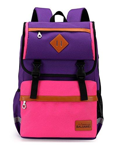 Keshi Nylon neuer Stil Damen accessories hohe Qualität Einfache Tasche Schultertasche Freizeitrucksack Tasche Rucksäcke Pink