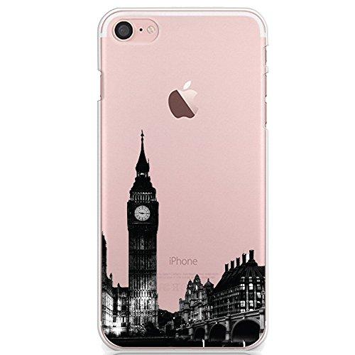 """Coque iPhone 8 4.7"""" Ultra-Mince Silicone TPU Gel Transparent Souple Etui Housse Sunroyal iPhone 8 (4.7 pouces) Case de Protection Spécial Back Cover Anti-Choc Bumper - Amour Cœur Motif 07"""