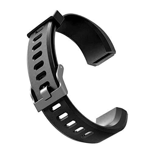 DNelo Reemplazo de Silicona Muñequera para Veryfit Id115 Id115Plus Correa de Reloj Inteligente para Pulsera-Veryfit Id115Plus Negro