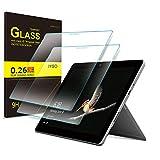 IVSO Schutzfolie für Microsoft Surface Go, 9H Härtegrad, Schutzfolie Glas Panzerfolie Bildschirmfolie Bildschirmschutzfolie für Microsoft Surface Go 10 Zoll, (2 x)