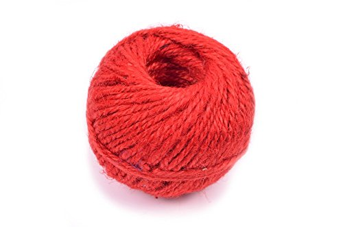 Craftpal Jute Cord 50m Red