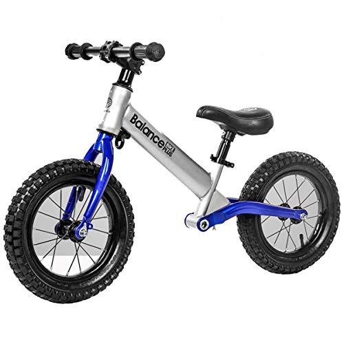 """YLET 12\""""Laufrad für Kinder Kinder Laufen Fahrrad Aluminiumlegierung Kein Pedal Walking Fahrrad für Alter von 2 bis 5 Jahren,Blue-OneSize"""