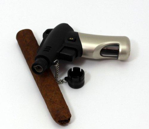Design elegante accendino turbo jet flame e piede removibile e patta protettiva - Stand Lighter
