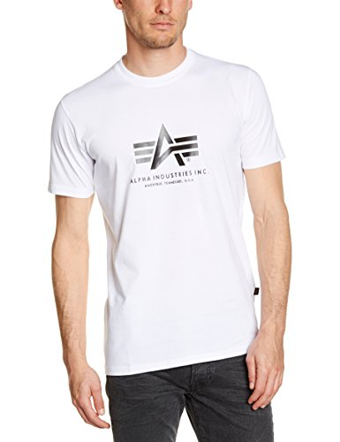 Alpha Industries Herren Basic T-Shirt, Weiß (White 09), XXX-Large