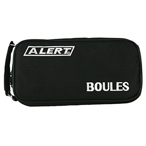 Boule Boccia Krocket Petanque Set 8 große ( 4 x 2 ) 1 kleine Kugel inkl. Koffer mit Reißverschluß