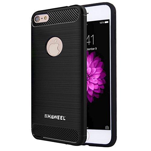 Ruiyue Fall für iPhone 6 u. 6s, gebürsteter Kohlenstoff-Faser-Beschaffenheit Shockproof TPU schützender Fall ,Iphone 6 plus Case ( : For iphone 6+6s (us stock) ) (Kohlenstoff-faser Plus Iphone Fall 6)