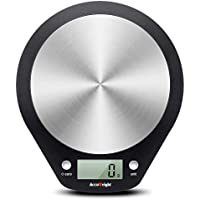 ACCUWEIGHT Stainless Steel Digital Kitchen Weighing Food Scales Electronic Cooking Food Baking Scale for Kitchen School Office, Liquid Measure Feature in ml & fl. Oz, 5000g, 0.1oz/1g
