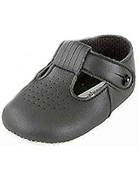 Niños bebés Zapatos T Bar cochecito con patrón de agujeros de corte - Hecho en Inglaterra por primeros días Baypods