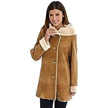 DANKO 17012 Manteau Femme en Peau lainée Mouton 100% mérinos Espagnol. 83543f254c2