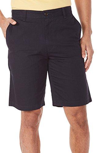 Herren Flat Front Perfect Shorts 30W Marineblau (Dockers Flat Shorts Front)
