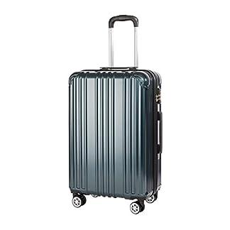 COOLIFE-Hartschalen-Koffer-Rollkoffer-Reisekoffer-Vergrerbares-Gepck-Nur-Groer-Koffer-Erweiterbar-PCABS-Material-mit-TSA-Schloss-und-4-Rollen