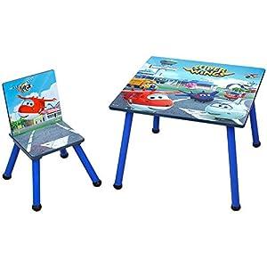 Super Wings 2tlg. Kindersitzgruppe Kindertisch & Stuhle Kinder Sitzgruppe Holz