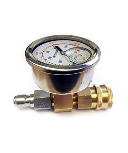 Manometer Glyzerin gefüllt für Hochdruckreiniger Düsenreiniger 0-600 bar 8700 PSI Schnellspanner