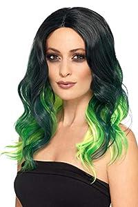 Smiffys 48902 - Peluca para mujer, talla única, color verde