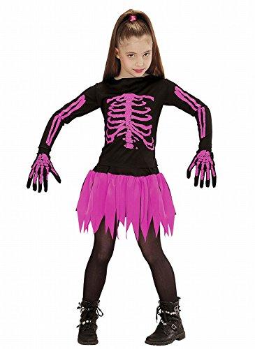 Widmann - Kinderkostüm Skeleton Ballerina - Hemd, Rock und Handschuhe - Größe: (Kostüm Ballerina Tote Halloween)
