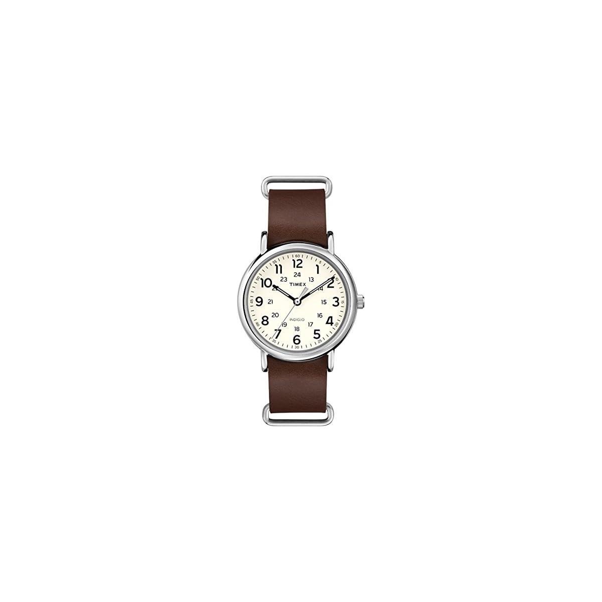 41rYaiNzslL. SS1200  - Timex T2P495 - Reloj de Pulsera Unisex, Correa de Piel, Color marrón