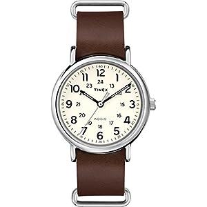 Timex T2P495 – Reloj de Pulsera Unisex, Correa de Piel, Color marrón