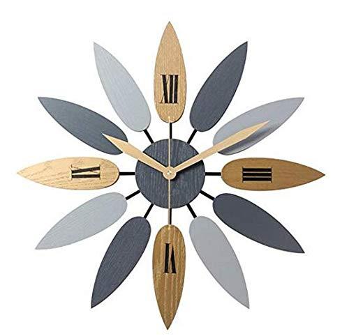 Acacia Bird Sunburst Wanduhr Nordic Stil Uhr Vintage Wanduhr, Blatt hängende Uhr