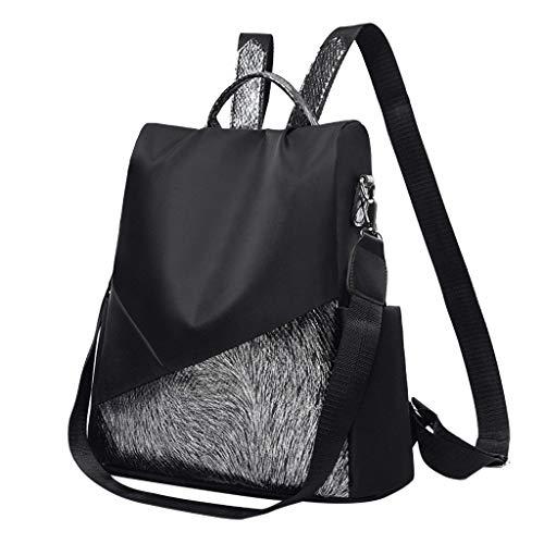 Unisex-Erwachsene Daypacks, ODRD Frauen Damenmode Pailletten Messenger Handtasche Totes Schulter Rucksäcke Taschen Rucksäcke Backbag Student Back to School Bag Backpack Tagesrucksack