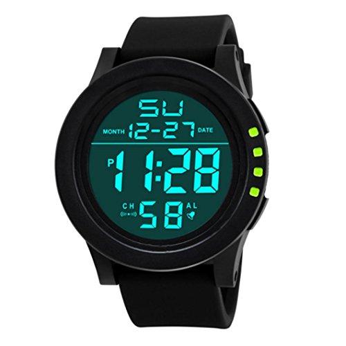 737fe3ebb35e Sunday Masculino CláSico Reloj Led Impermeable Militares Cuarzo Digital  Moda Deporte para Hombres Digital del Cuarzo