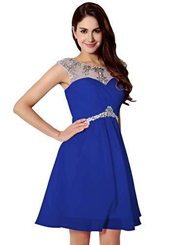 4c822b93a35 Sarahbridal - Vestido - Sin mangas - para mujer Azul azul real