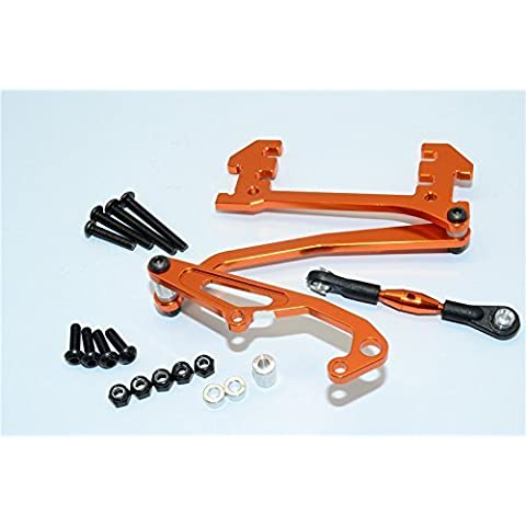 Axial SCX10 Upgrade Parts Aluminum Servo Mount With Panhard Bar - 1 Set Orange by GPM