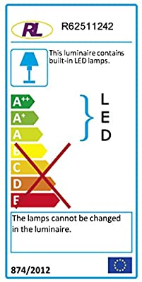 Reality Leuchten Deckenleuchte / Acrylring smoke / Kunstoff weiß / inklusive SMD LED 12W, 700 lm, 3000K / ø 33 cm R62511242
