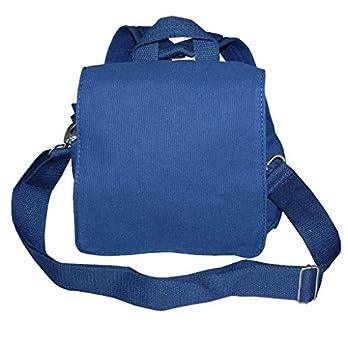 Lieblingsstücke Taschenrohling Canvasrucksack wandelbar zur Tasche in blau K10