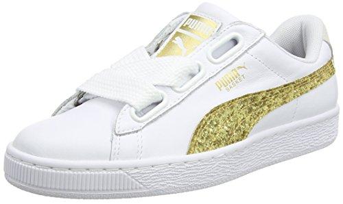Puma-Basket-Heart-Glitter-Zapatillas-Para-Mujer