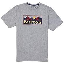 Burton Ralleye Shortsleeve Camiseta, Hombre, Gray Heather, M