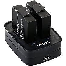 ThiEYE Acción Cámara t5e Cargador de batería USB Dual Carga Cargador