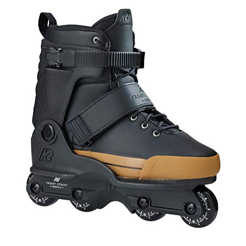 K2 Unisex Frontstreet Inline Skates - Schwarz-Gold - EU: 41.5 (US: 8.5 - UK: 7.5) - 30B0025.1.1.085 -