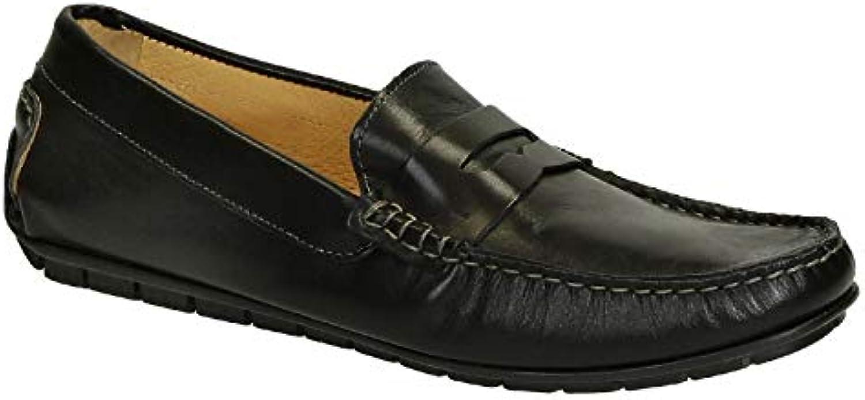 LEONARDO scarpe Mocassini Uomo 503VITELLONEROFAUSTO Pelle Nero | Di Alta Qualità E Basso Overhead  | Uomini/Donne Scarpa