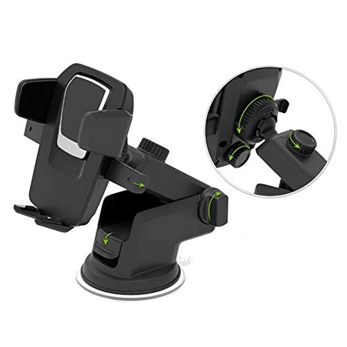 [Get Discount ] Alexvyan Car Mobile Holder/Stand Adjustable with Windshield/Dashboard/Working Desk Mount with Quick One Touch Technology for Mobile Phones 41rYd5OrTJL