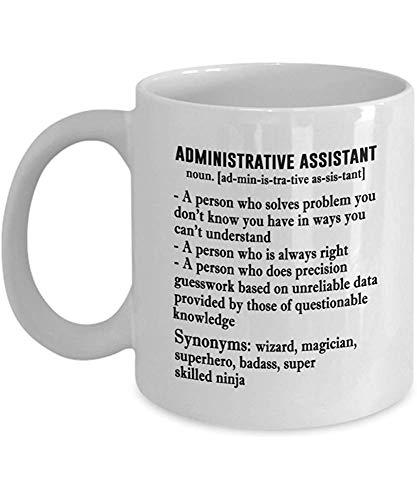 Asistente administrativo Taza de café Regalos Asistente administrativo Sustantivo Idea para el gerente de oficina Compañero de trabajo Secretario Cerámica