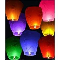 Compribene - Farolillos Chinos Sky Lantern - 10 Linternas voladores de colores - Ideales para bodas y fiestas
