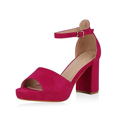 SCARPE VITA Damen Riemchensandaletten High Heels Sandaletten Sommer Schuhe 166587 Pink 38