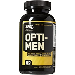 Optimum Nutrition Opti-Men 180 Capsules MultiVitamin Tablets with Vitamin D, Vitamin C, Vitamin A & Amino Acids, Multivitamins by ON - UnFLAVORed, 60 Servings