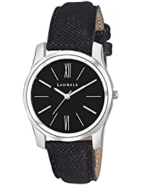 Laurels Black Color Analog Women's Watch With Strap: LWW-ORC-020207