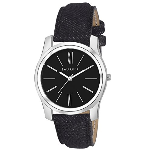 Laurels Black Color Analog Women's Watch With Strap: LWW-ORC-020207