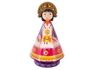 L'oiseau bateau - Boîte à musique musicole Princesse Inca - Rose et violet