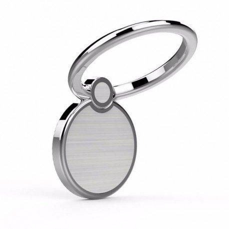 Creols Metal Handy Ring Smartphone Halter, Fingerhalter, Halterung für alle Mobiltelefone, Magnetisch 360 Grad 0001 - Silver Samsung-metal-handy
