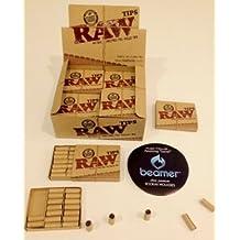 TRENDZ RAW NATURAL- Puntas pre-enrolladas sin refinar naturales (6 paquete con 21 puntas)