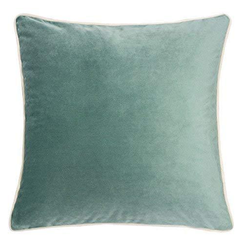 Homey Cozy Samt Überwurf Kissenbezug, Polyester-Mischgewebe, blaugrün, 50,8 x 50,8 cm - Ivory Seide Werfen