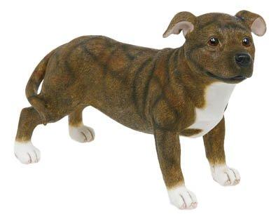 Brindle Staffordshire Bull Terrier in piedi, motivo Staffie Pedigree Pals-Dog Ornament dei cani da Collezione Leonardo