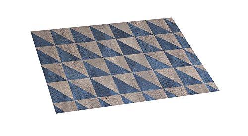 Stor Planet Croma - Alfombra Vinílica Estampada Wood Geom Blue 45X75