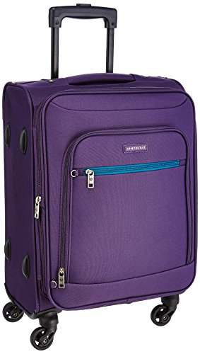 Aristocrat Nile Polyester 66 cms Purple Suitcase (STNILW66PPL)